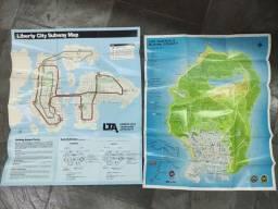 Mapa decorativo GTA Los Santos e Liberty city