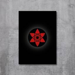 Placa Decorativa Naruto - Mangekyou Sharingan Sasuke