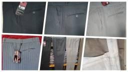 Calça Social masculina tecido Risca de giz/Alfaiataria
