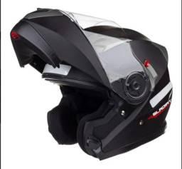 Capacete para moto escamoteável Texx Gladiator preto-fosco