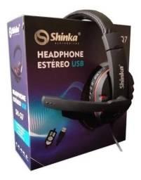 Headset Gamer Usb Com Microfone, Estéreo Shinka Sh-q7