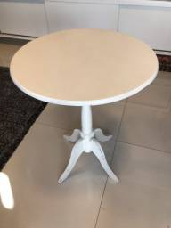 Mesa madeira rústica branca