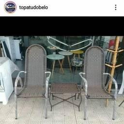 LINDO JOGO POLTRONAS DE JUNCO  NOVAS!