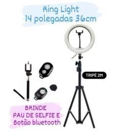(NOVO) Ring Light 35cm 14 Polegadas + Tripé 2 m