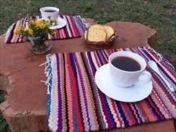 Kit com 2 Soupla arte indigena - mesa Dia das Mães