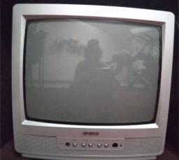 Tv Cce -14 polegadas colorida com controle e conversor.