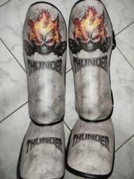 Caneleira Thunder Muay Thai Semi Nova