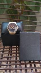 Relógio Analógico Masculino Chilli Beans Metal Fosco Dourado<br>