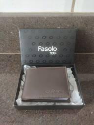 Carteira Fasolo 100% Original - Couro - Modelo Slim