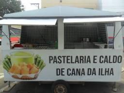 trailer de lanche ou pastelaria de caldo de cana