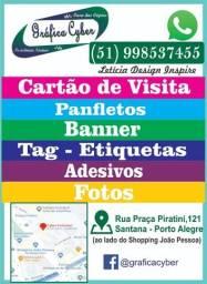 Impressão- Encadernação- Cartão de Visita