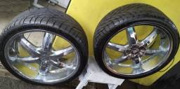 Rodas de alumínio aro 22 + Pneus 265/35R22 Sunny Radial