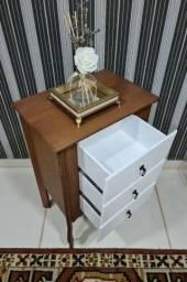 Kit mesa de cabeceira com 3 gavetas
