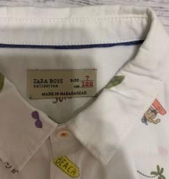 Camisa infantil Zara tam 7