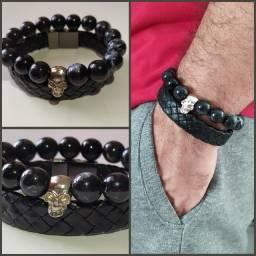 Kit 2 pulseiras masculino