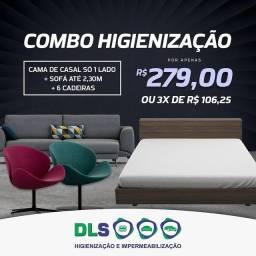 Limpeza de sofás