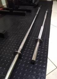 Barras maciças cromadas 1,80m e 1,20m Musculação