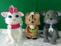 Pets decorativos em feltro