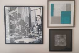 3 Quadros Decorativos usados