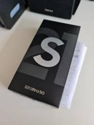 Samsung Galaxy S21 Ultra Preto 12GB / 256GB - Novo, lacrado, NF e garantia