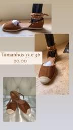 Sapatilhas e sandálias ponta de estoque