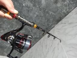 Vara Pesca Fibra de Carbono 2,1m