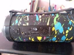 Caixa de Som Pulse com Bluetooth e jogo de luz
