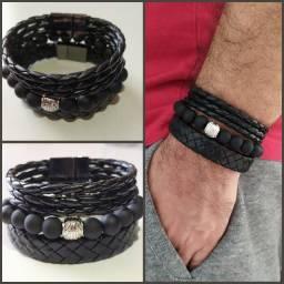 Kit 3 pulseiras masculino