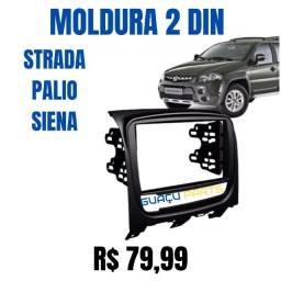 Moldura Painel Dvd 2 Din 2din Multimidia Idea / Idea Adventure  Preta