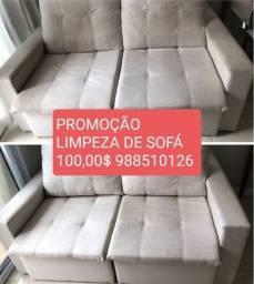 Promoção limpeza sofá, colchão ,banco de carro a