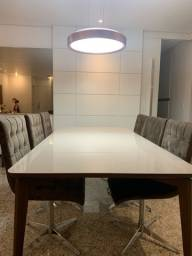Mesa de jantar de 8 lugares da Loja Líder (cadeiras não inclusas)