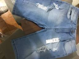 OPORTUNIDADE  Lote Bermuda jeans Calvin Klein