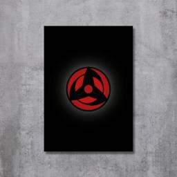 Placa Decorativa Naruto - Mangekyou Sharingan Kakashi