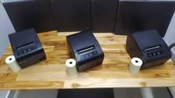 Kit com 3 Impressoras Térmicas em Perfeito estado em Itu + 3 Bobinas de brinde