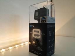 Câmera GoPro 8 Hero Black com cartão 64gb (nova, lacrada)