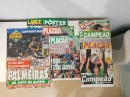 Posters dos títulos do Palmeiras década de 90