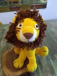 Leão de crochê