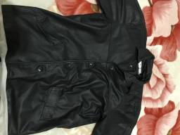 Jaqueta de couro legítimo masculina tam. G