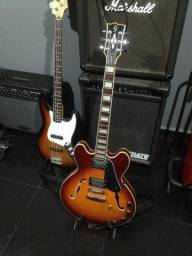 Guitarra giannini diamond reediçao sunburst