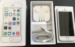 Iphone 5s 16gb Prata 4g Caixa e Acessórios 6 Meses Uso