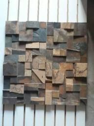 Mosaicos de pedra ferro luminárias São Tomé