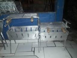Churrasqueira aberta de alumínio