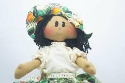 Jeanete - boneca de pano artesanal