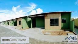 Residencial copacabana (praias do rio) | casas de 2/4 sendo uma suíte em cond. fechado | d