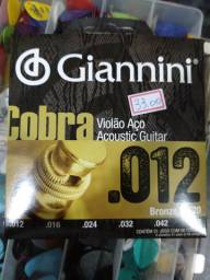 Encordoamento 012 Giannini aço