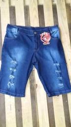 """Bermudas jeans """"atacado"""" 28,00"""