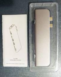 Adaptador Hub Macbook Pro Usb Tipo C 4k Hdmi Thunderbolt Corpo em Alumínio