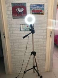 Iluminador Ring Light Youtuber 10 Polegadas 26cm Led Tripé