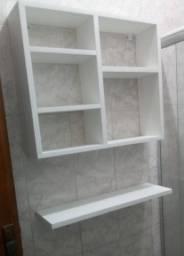 Nicho para banheiro com prateleira