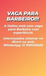 Oportunidade VAGA PARA BARBEIRO